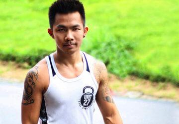 Nick Darun 2 at Unit 27 gym, Phuket, Thailand