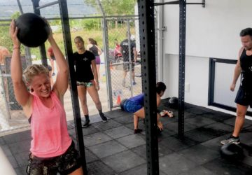 The Yard fitness and weight loss session at Unit 27 gym Phuket, Thailand